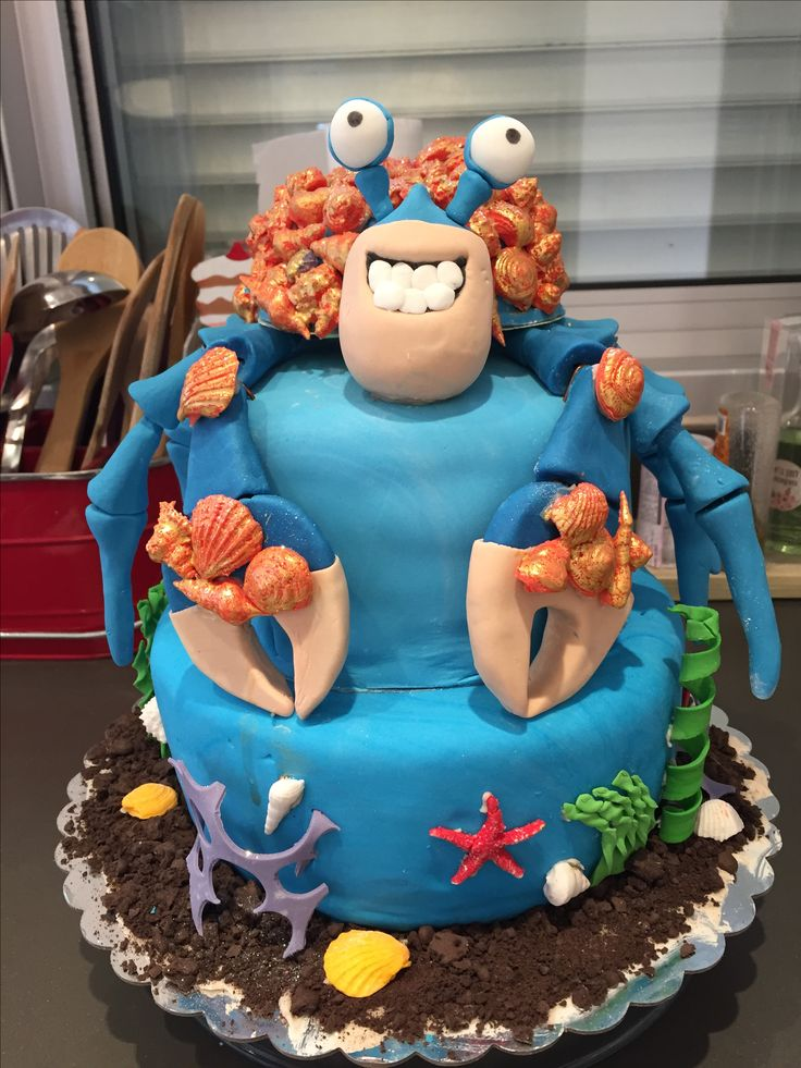 Moana Tamatoa Cake My Cakes Moana Birthday Party