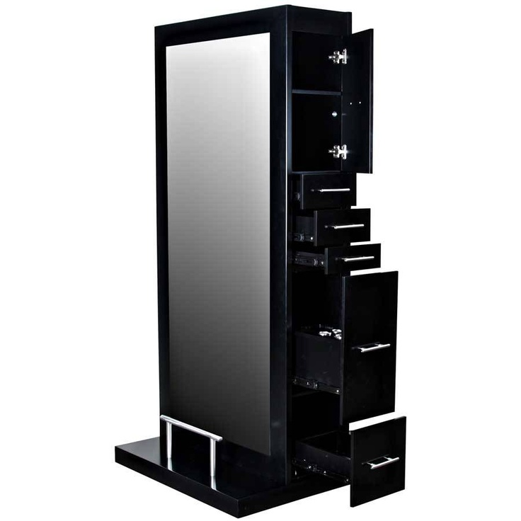 """Dallas"" Double Styling Station with Mirror, Styling Stations & Cabinets: Salon Equipment and Furniture"