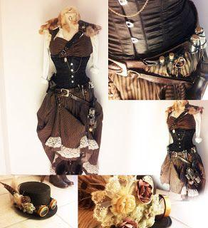 Costumes passion-Idées de costumes pour tous les themes Great costumes and makeup idéas for party: Steampunk Femmes