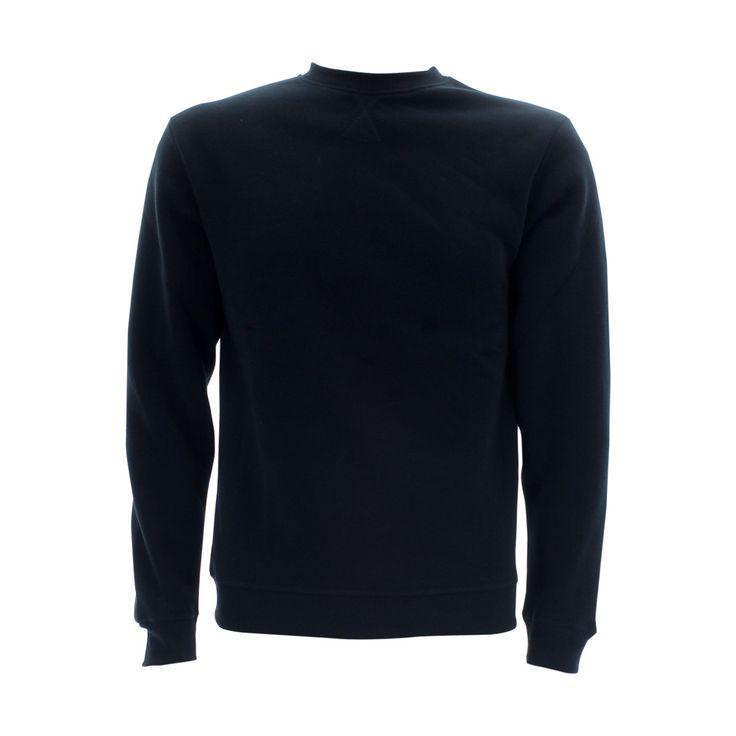 Skazi New York - Men's 250 Gsm Solid Basic Fleece Sweatshirt - Black