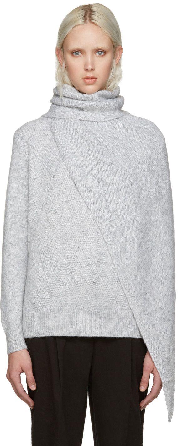 KENZO Grey Shawl Sweater. #kenzo #cloth #sweater