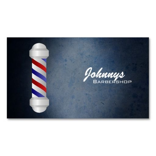 Barber Shop Business Cards. Make your own business card with this great design. All you need is to add your info to this template. Click the image to try it out!
