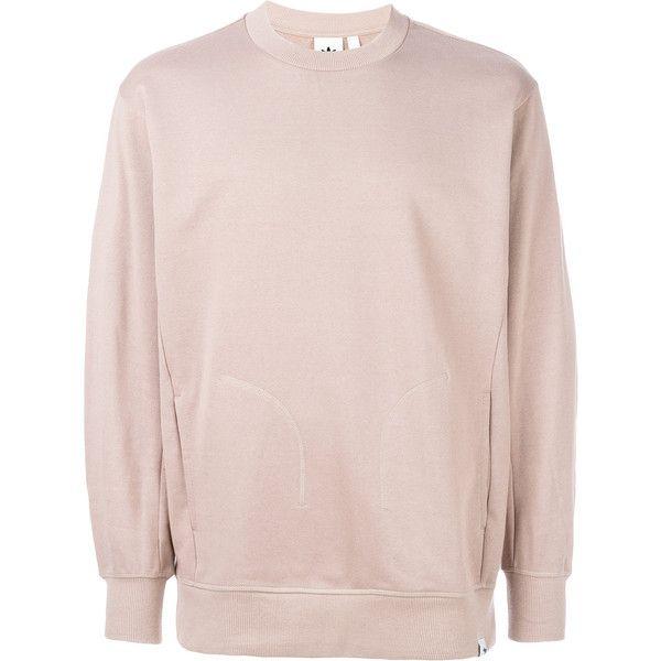Adidas Originals XbyO crew neck sweatshirt (3,990 PHP) ❤ liked on Polyvore featuring men's fashion, men's clothing, men's hoodies, men's sweatshirts, mens grey crew neck sweatshirt, mens grey sweatshirt, mens crewneck sweatshirts and mens crew neck sweatshirts