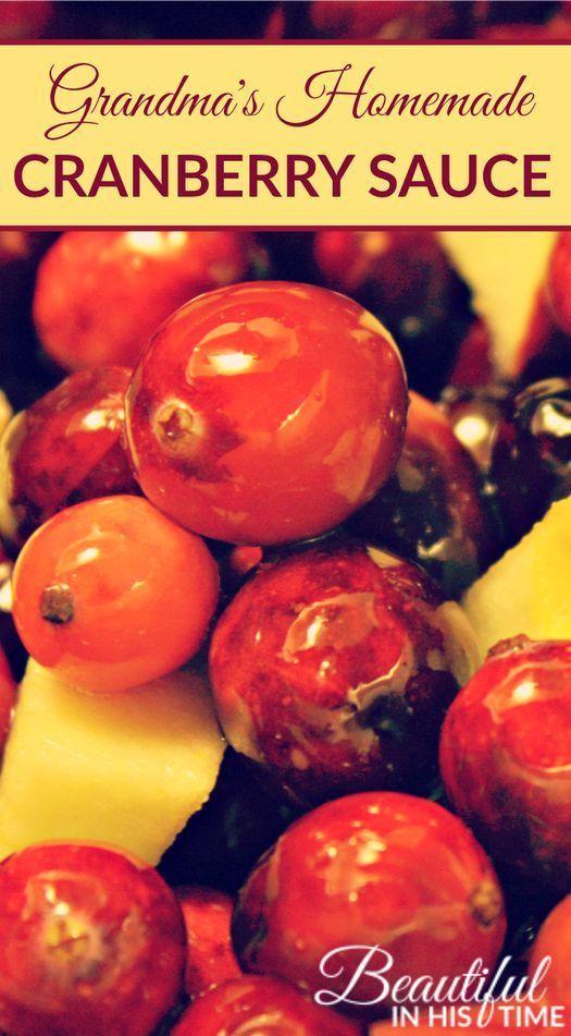Grandma's Homemade Cranberry Sauce Recipe: cranberry apple sauce