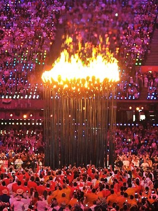 London Olympics Opening Ceremony - probably one of the coolest ideas for a cauldron I've seen yet.