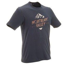 T-Shirt manches courtes Randonnée Homme TechTIL 100 Bleu Foncé