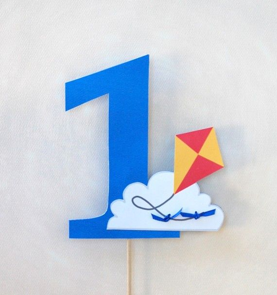Kite and Cloud Cake Topper