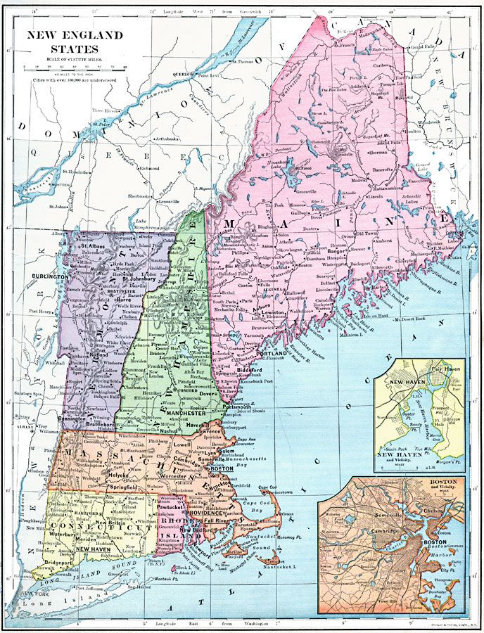 Die Besten New England Usa Ideen Auf Pinterest Neu England - Us map new england