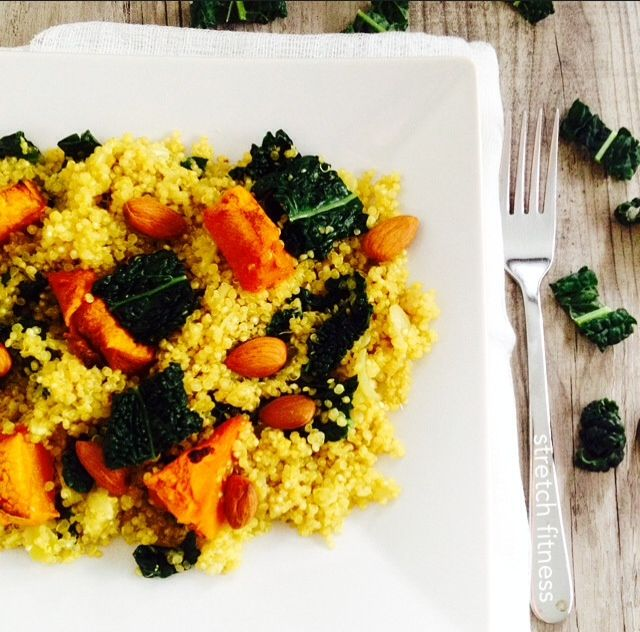 Quinoa (pronounced keen-wa) is a high protein nutritious food to fuel the body. This dish is a Quinoa, Kale and Roasted pumpkin dish that can be eaten on it's own or as a side dish. A delicious and healthy dish for the family.