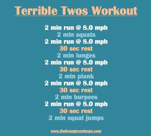 Terrible Twos Workout via @The Lean Green Bean