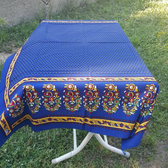 Check out this item in my Etsy shop https://www.etsy.com/listing/454868286/tablecloth-cobalt-blue-cotton-linen