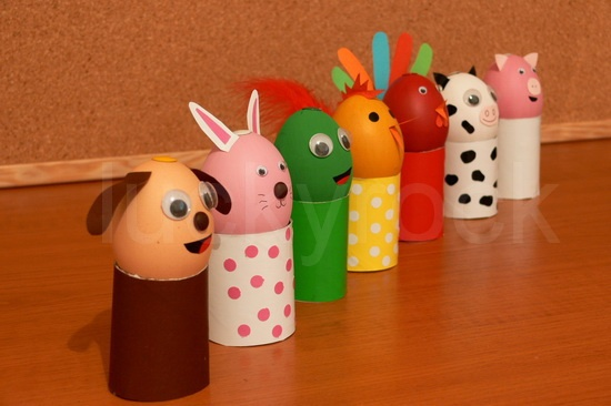 Cute animal Egg Characters with decorated TP holders