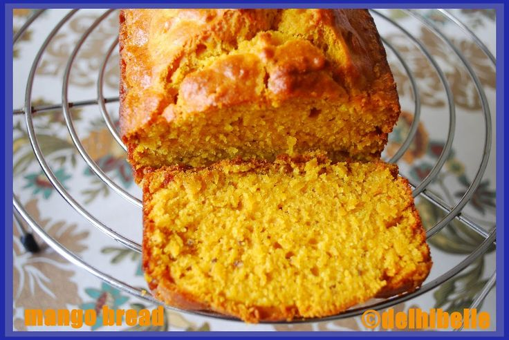 Eggless Mango Bread I have recently tip toed into baking, with a few easy looking cake recipes.... See more: http://goo.gl/Bjljx4  #recipe #food #mangoes