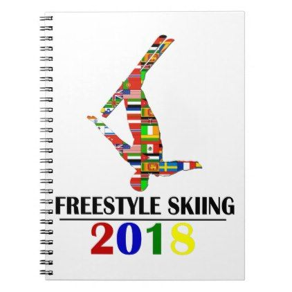 2018 FREESTYLE SKIING NOTEBOOK - winter gifts style special unique gift ideas
