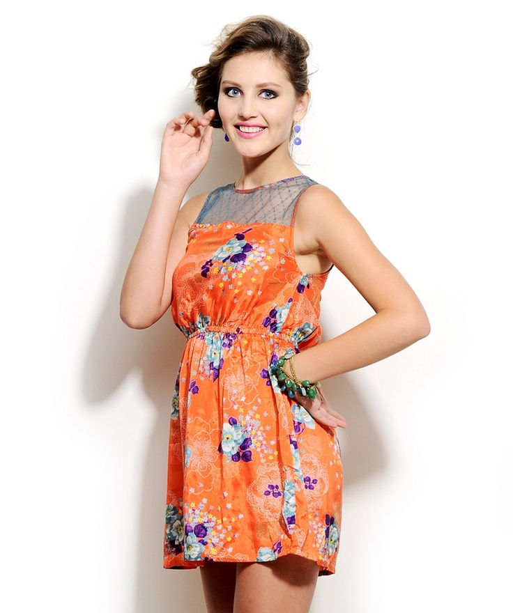 Orange Floral Dress by Corsage  http://www.mydesignersales.com/designers-2/corsage/orange-floral-dress-by-corsage.html