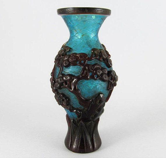 Peking glass vase