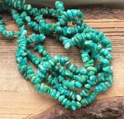 Для украшений ручной работы. Ярмарка Мастеров - ручная работа. Купить Амазонит уральский нить 40 см каменная крошка бусины для украшений. Handmade.