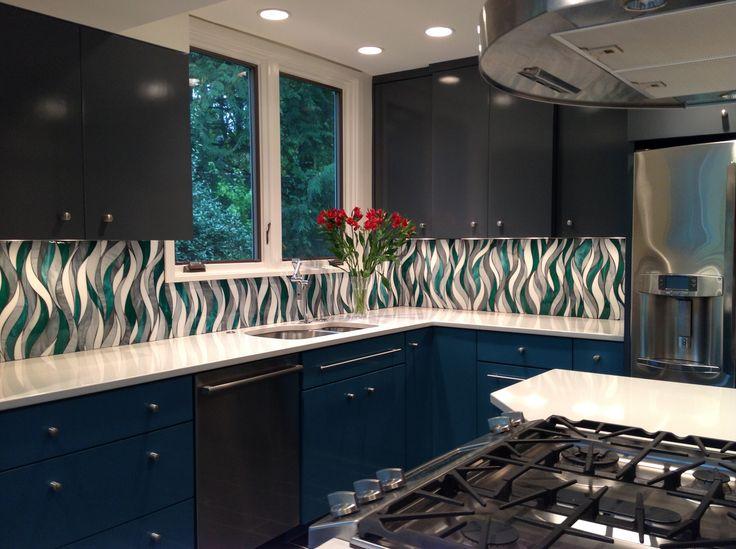 Custom Glass Backsplash Www Architecturalceramics Com
