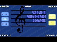 Voice lessons - interactive singing lesson! by sbgalt ▶️ The Sight Singing Game! by sbgalt I LOVE this ... takes me right back to all of those studio sight singing exams at BU! ( Kids could inter change and sing the solfege after they got the hang of it! ) Includes various levels of difficulty.