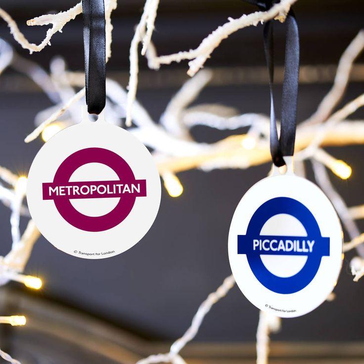 Novelty London underground TFL tube line Christmas