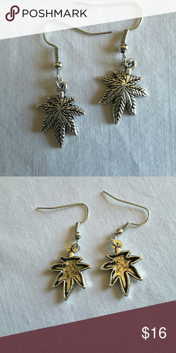 Marijuana Leaf 420 Festival Earrings This is a cool pair of marijuana Mary Jane 420 celebration Festival earrings. They are brand new.  They are not sterling silver.  My home is smoke free and pet free.  Check out the other items in my closet to bundle two or more items for a great bundle discount.  I welcome offer.  Happy POSHING! Jewelry Earrings