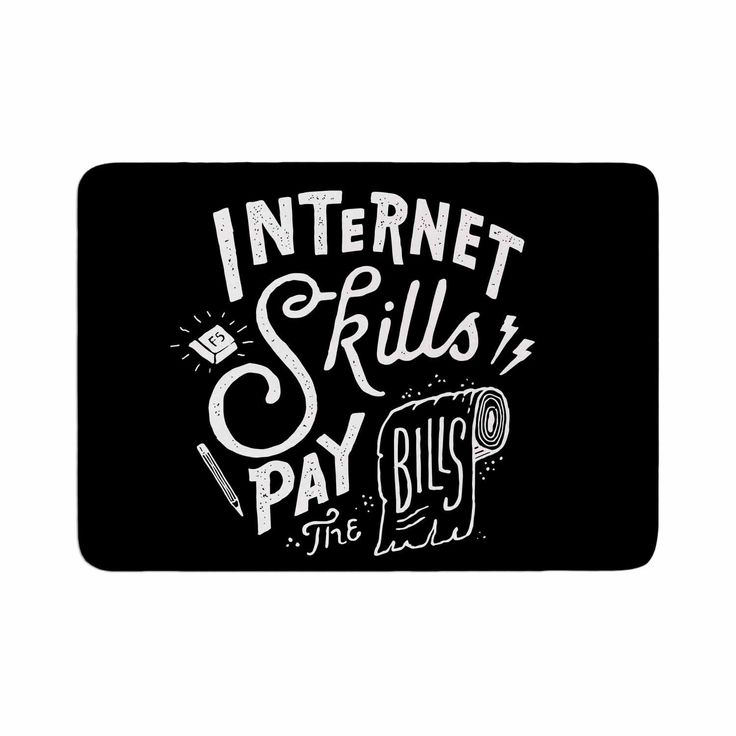 "Tatak Waskitho ""Pay The Bills"" Typography Vintage Memory Foam Bath Mat"