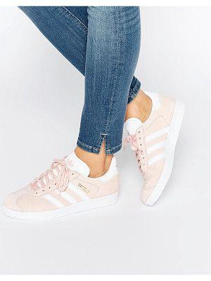 Adidas Originals pink suede gazelle sneakers