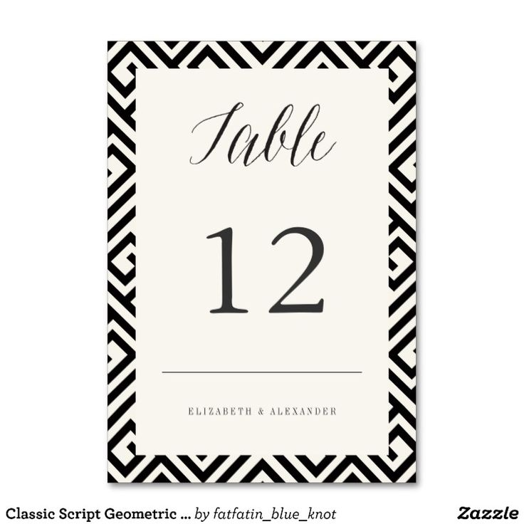 76 best wedding black white silver gold images on for Table 52 number