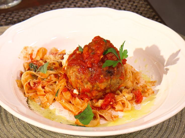Spaghetti and Meatballs with Ricotta Recipe : Bobby Flay : Food ...
