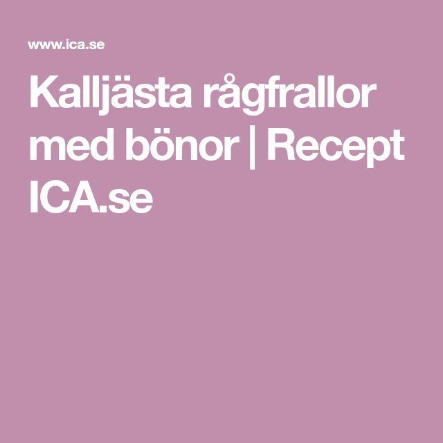 Kalljästa rågfrallor med bönor   Recept ICA.se