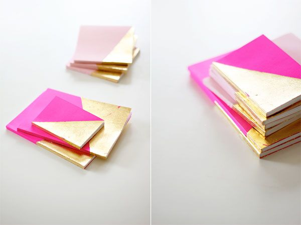 gold leafed - had never thought to cover favourite notebooks in perfect dashes of gold