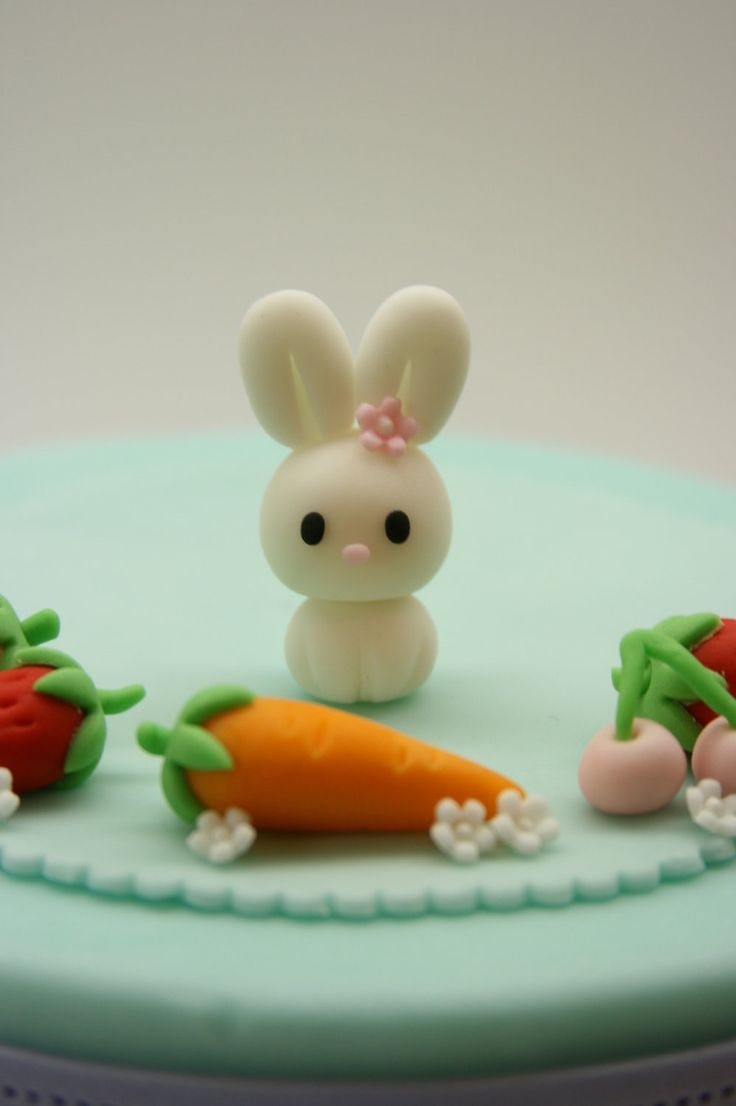 Lovely Baby Rabbit Cake Topper. $8,00, via Etsy. on head pin for pin cushion clay