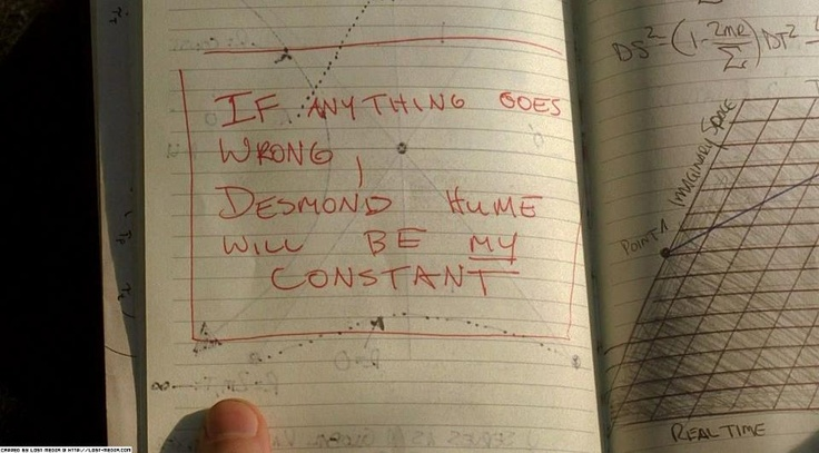 "From one of the greatest episodes of TV I've ever seen. Lost - The Constant. ""If anything goes wrong, Desmond Hume will be my constant""."