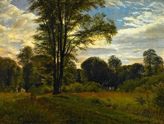 P.C. Skovgaard (1817-1875): Forest scenery