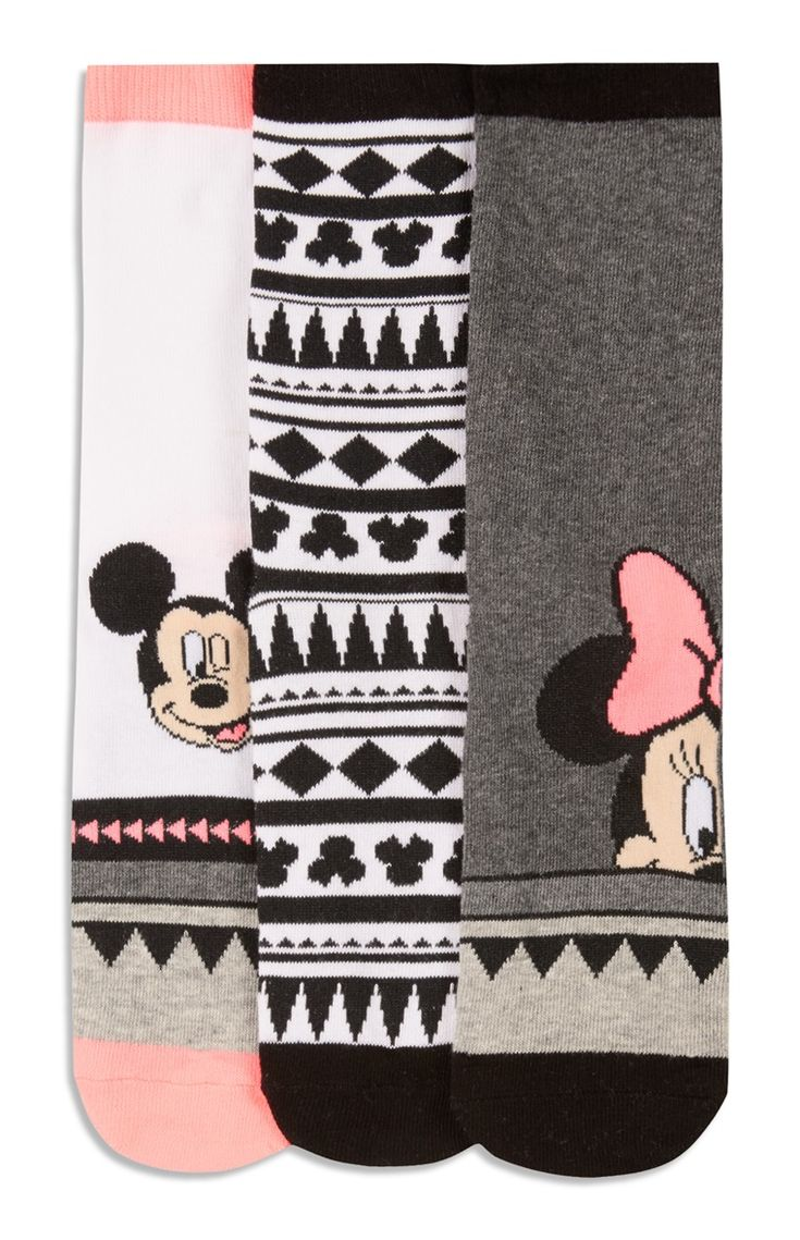 Primark 3 Pack Minnie Mouse Long Socks in 2020 Minnie