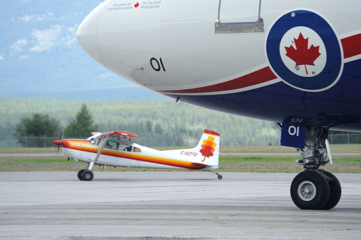 A Royal Canadian Air Force CC150 Polaris lands at Erik Nielsen Whitehorse International Airport carrying Canadian Armed Forces personnel in preparation for Operation NANOOK 13 in Whitehorse, Yukon on July 31, 2013.