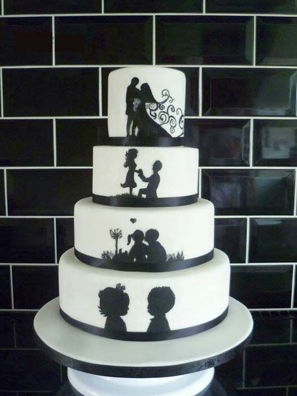 The right wedding cake design is usually more important than the flavour. Unique funny wedding cake can be one of the various selection to choose from, and also the perfect way to make your fall wedding reception even better and perfect.