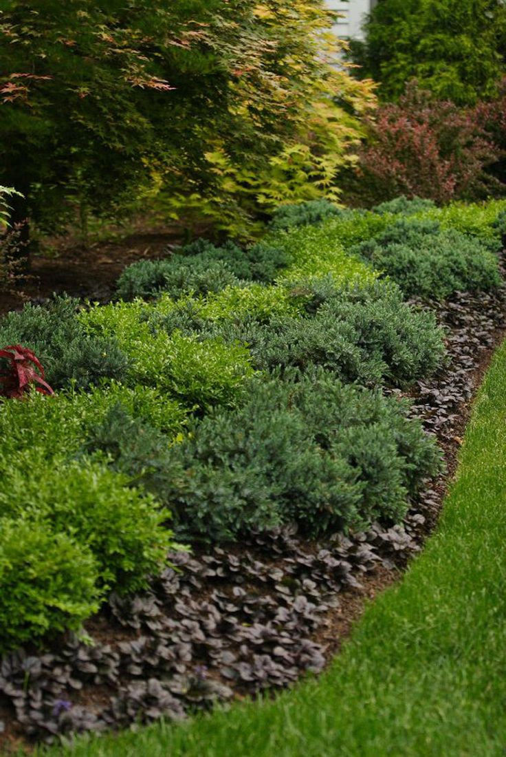 Garden designs with bridges and wishing wells landscaping ideas - Janice Parker Landscape Architects Casual Shrub Border