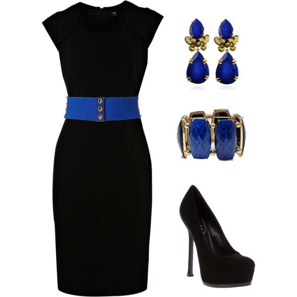 The blue black dress image
