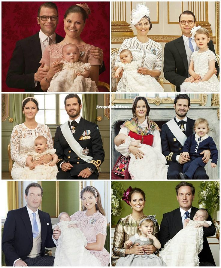 The official family photos from all the six Swedish royal christenings