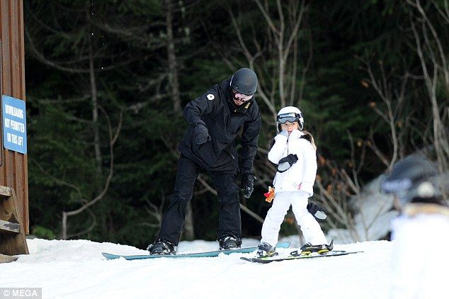 Harper has already proved herself a fan of designer sportswear – last week, she chose a £140 multi-coloured Stella McCartney jacket and salopettes for her day's skiing,