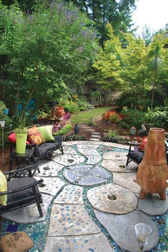 great tutorial on how to create concrete patio