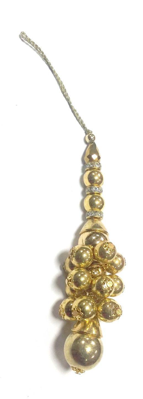 Pompons Décorations rideaux dorés Tassels saris accessoires décoratifs textiles perles Latkans : Déco, Customisation Textile par mercerieindienne