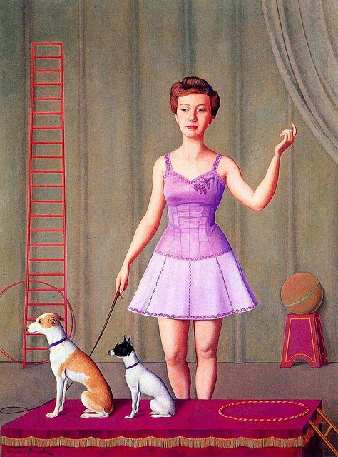 Antonio Donghi, Ammaestratrice di cani, 1946 by kraftgenie, via Flickr