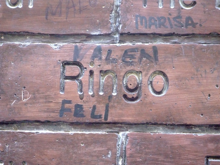 Paul McCartney's Brick on the Cavern Wall of Fame in Mathew Street, Liverpool City Centre...  http://ringostarronline.blogspot.com