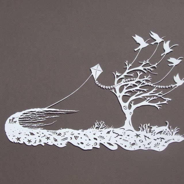 I bought this beautiful paper cut by polly finch at the for Beautiful paper cutting art