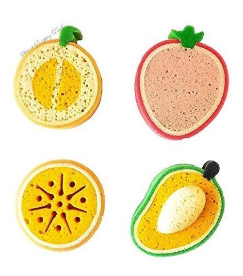 Set of 4 Baby Bath Sponge Kids Fruit Sponges Newborn Bathing Babies Bathtime  #Setof4BabyBathSponge
