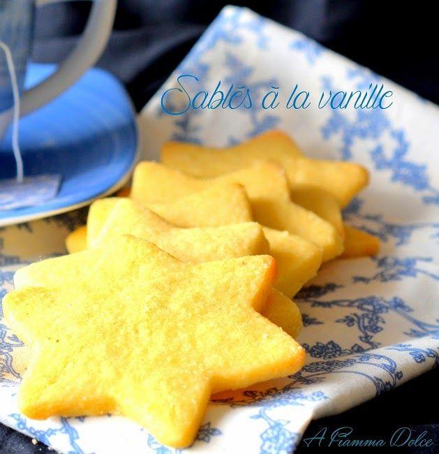 A fiamma Dolce: Sablés alla vaniglia (Stelline di Natale alla vani...