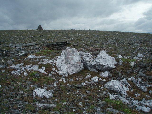 Quartz_boulders,_summit_slopes,_Beinn_Lair