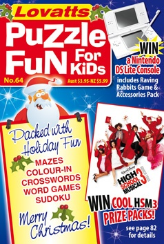 Kids Puzzle Fun 64 Christmas cover